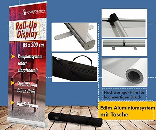 Roll up Display Bannerdisplay 85x200cm Digitaldruck Werbeständer Firmendruck Werbung Bannerdisplay Aufsteller 12A08, Roll up Größe:85cmx200cm