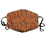 Vbnbvn Mundmaske,Wiederverwendbar Anti Staub Schutzhülle, Tiger Stripes Orange Pattern Anti Dust Half Face Mouth Cover Mask Respirator - Washable- Protective Breath Health Safety Windproof