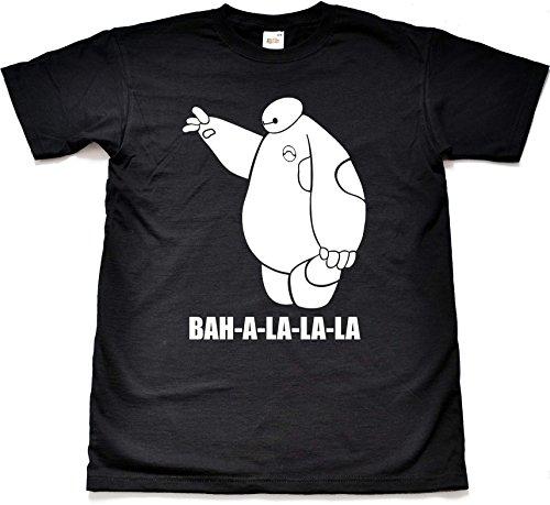Teamzad Baymax Bot Fistbump Funny Black T Shirt Small (Movie-cars Dvd)