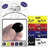 WeLiQu FORM | Innovativer formbarer Kleber, der hart und stabil wird | Absolut geruchlos | 2x Gelb, 2x Rot, 2x Blau, 1x Schwarz, 1x Weiß