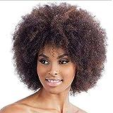 Rosennie Afro Perücke Kurz Perücken Synthetic Curly Perücken für Frauen Natural Blond Kurze Perücke Fashion Explosion Lockige Haar Wig Karneval Kostüme Cosplay Gelockt Fasching Afroprücke (Braun)
