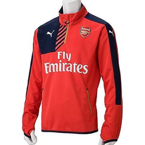 Puma Shirt AFC 1/4 Training Top Sales with 2 Side Pockets Zip - Camiseta / Camisa deportivas para hombre, color rojo, talla