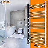 Badheizkörper Handtuchwärmer Handtuchheizkörper Heizkörper 1800x600 CHROM Gerade mit Armatur