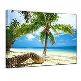 Bilderdepot24 Cuadros en Lienzo Playa en el paraíso - 60 x 50 cm - Listo tensa, Directamente Desde el Fabricante