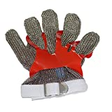 Duhongmei123 Stainless Steel Mesh Hand Glove - Cut Resistant For Kitchen Butcher Working Safety,