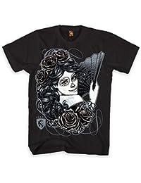 OGABEL Men's La Catrina SS T Shirt Black