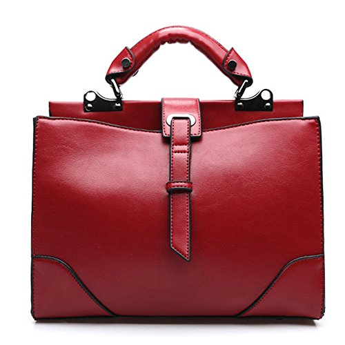 Fanhappygo Pelle Moda Donna Elegante Retro Medici Borsa Busta Borsa A Tracolla Borse A Spalla Borse Da Sera Rosso