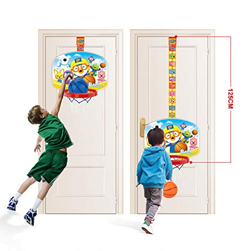 BXWQPP Cartoon Aufkleber Basketballkorb Hängendes Kunststoff Basketballständer Kinder im Outdoor und Indoor Basketballanlage Korbanlage Stabile