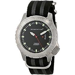 Momentum Men's 1M-DV74B7S Torpedo Analog Display Japanese Quartz Black Watch