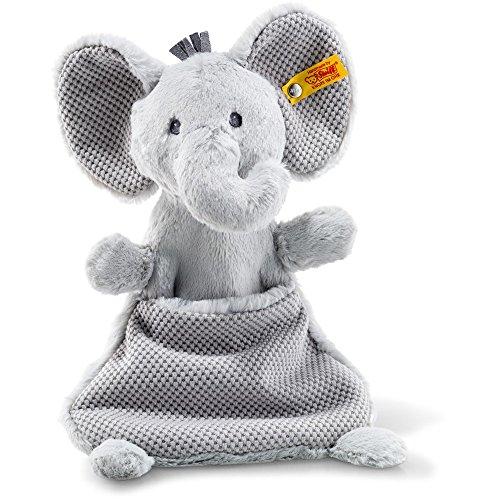 Steiff 240713 Soft Cuddly Friends Ellie Elefant Schmusetuch Plüsch grau 27 CM