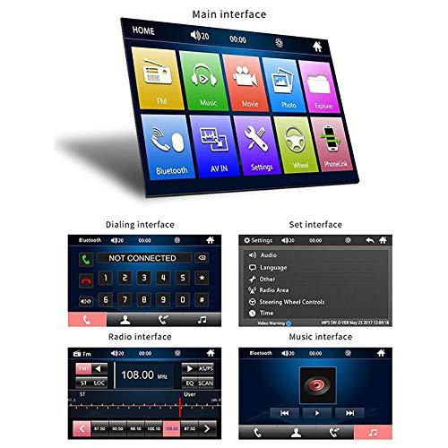 Autoradiospieler Spiegel Link Auto Radio 7 Zoll LCD Touchscreen Bluetooth Auto Stereo Rückfahrkamera 7010BMP5 Lcd-stereo