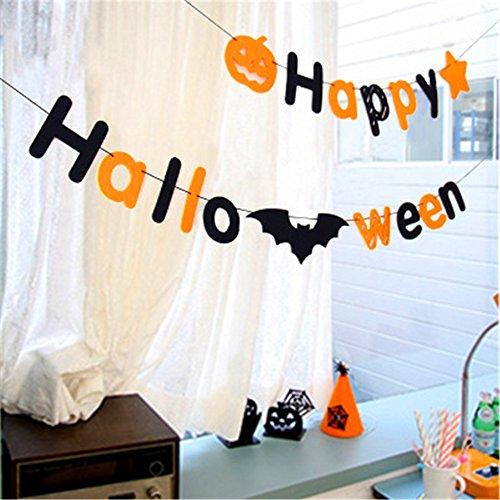 AAAHOMEEU 10Pcs Halloween Dekoration Kürbis Alphabet Vliesstoff ziehen Fahne Blume Einkaufen Mall Schulschule dress up (Niedlichen Kostüme Halloween Diy)