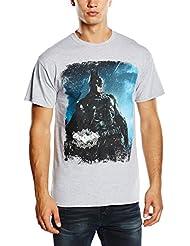 DC Comics Batman Arkham Knight Distressed - Camiseta manga corta para hombre