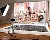 YongFoto 2,2x1,5m Foto Hintergrund Weihnachten Vinyl Weihnachtsdekoration Weihnachtsbaumschmuck Kamin Girlande Sofa Vorhang Teppich Fotografie Hintergrund Foto Leinwand Kinder Fotostudio
