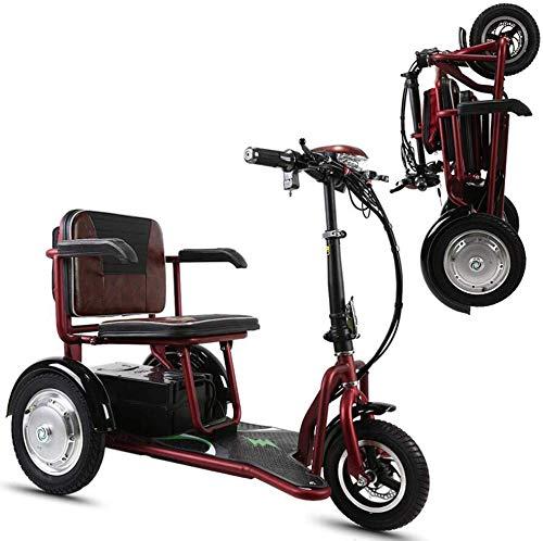 CHAIR Rollstuhl, medizinischer Rehabilitationsstuhl für Senioren, alte Menschen, Aa100, zusammenklappbar, tragbares Elektroauto, dreirädrige, ältere Personen/Behinderte, Freizeit im Freien, Mobilit