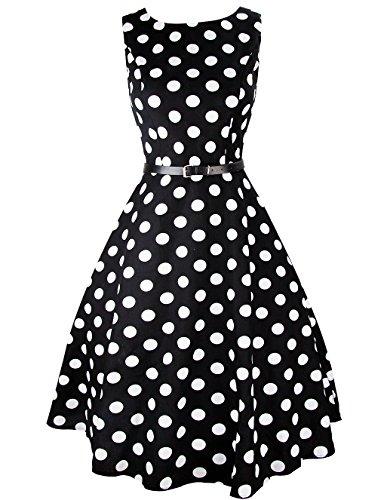 iPretty Robes Vintage 1950's Audrey Hepburn robe de soirée cocktail, bal style années 50 Rockabilly Swing Robe Femmes STYLE-1