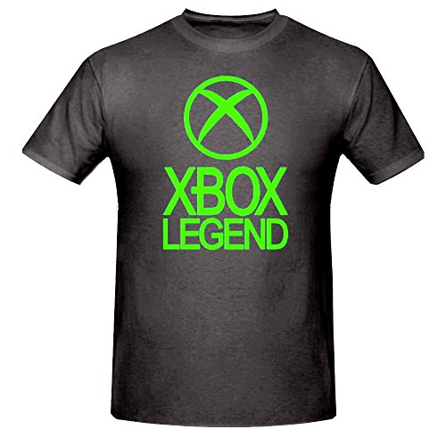 xbox-legend-funny-boys-t-shirt-5-15yrsxbox-360gamer-12-13-years-34-chest-black-green