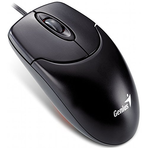 Genius Netscroll 120 Optical Mouse PS/2, schwarz - Usb-ps/2 Optical Mouse