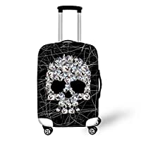 Showudesigns Animal Skull Printed Luggage Protect Suitcase Cover for Trip Travel