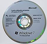 Windows 7 Pro DVD 64 Bit + Service Pack 1 - Originale - Utile per Installare Ripristinare o Riparare il Sistema Operativo