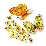 Malloom 3D DIY Wandaufkleber Kühlschrankmagnet Wohnkultur Schmetterling Aufkleber Raumdekor