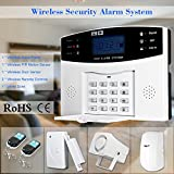 Festnight Wireless GSM SMS Home Antifurto Security Alarm System Rilevatore Kit Sensore Telefono App Telecomando 433MHz 1527