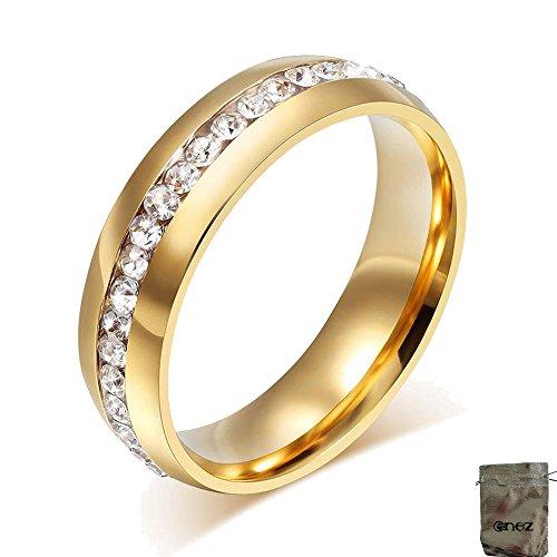 Original Enez Ring Trauring Ehering Edelstahlring Gold Gr: 10 (20mm) B: 6mm + Geschenkbeutel R2603