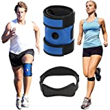 Azure Knee Brace Support And Strap - Best Neoprene Patella Support For Running, Cross Fit and Walking. Strengthens ACL And Boosts Recovery