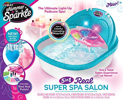 CRA-Z-ART- Shimmer'n Sparkle SPA Set de cosmética para pies y pedicura (ColorBaby 43921)