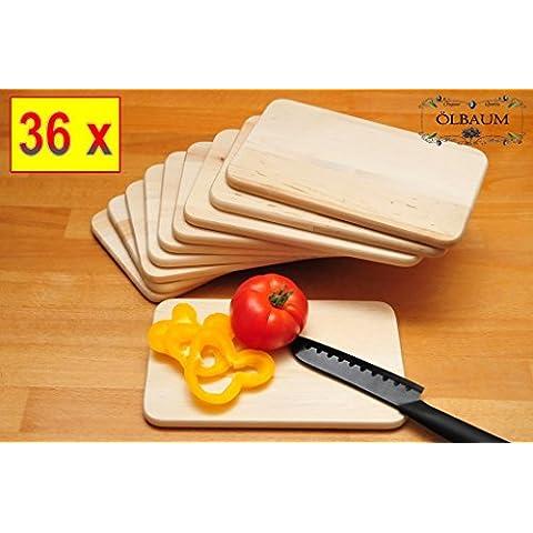 36 x Premium-tagliere in legno naturale, Universal-tagliere