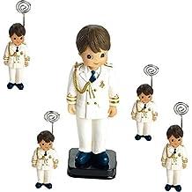 Portafoto niño Comunión.(2.85€ unidad) Pack de 12 unidades y 1 Figuras tarta a juego