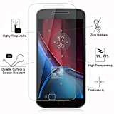 Shop Buzz Moto G4 Plus Screen Protector, Impossible Fiber Tempered Glass Screen Protector For Motorola Moto G4 Plus