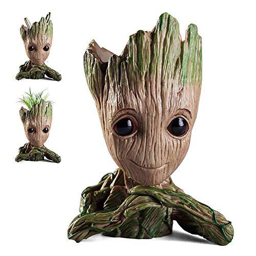 WILLBAN Baby Groot Blumentopf - Marvel Action-Figur aus Guardians of The Galaxy für Pflanzen & Stifte