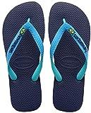 Havaianas Brasil Mix - Protezioni Toe Unisex – Adulto, Multicolore (Navy Blue/turquoise), 43/44 EU(41/42 Brazilian)
