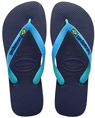 Havaianas Unisex Adults' Brasil Mix Flip Flop, Navy Blue, 8 UK (41/42...