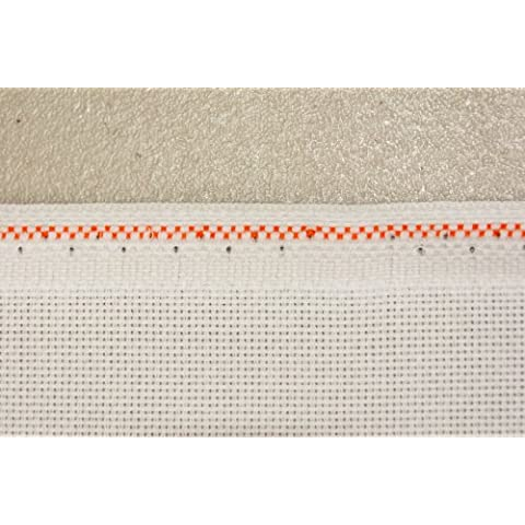 Hardanger Zweigart 22 Count, colore: bianco cotone