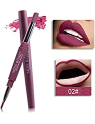 Tefamore Miss Rose Double-Fin Lining Durable imperméable Lip Liner Stick Pencil 8 Couleur
