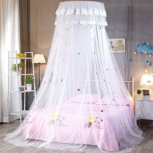 Gecorid Baby Betthimmel Baldachin Moskitonetz Baldachin, Rund Moskitonetz Insektenschutz Kinder Prinzessin Spielzelte fürs Kinderzimme -