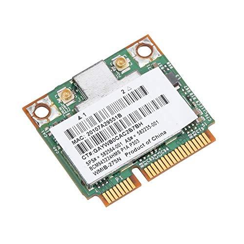 Tosuny Netzwerkkarte, 300 Mbit/s Hochgeschwindigkeits-Universalnetzwerkkarte mit 2,4/5-GHz-Dualband-Mini-PCI-E-Karte für HP 2540p/8460p/5310m/5320m