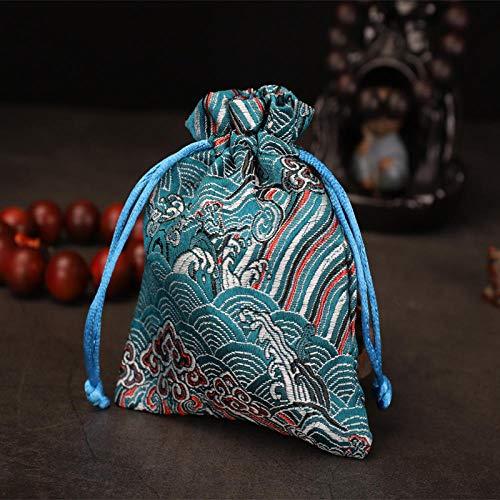 Dopmini Retro chinesischen Stil bestickt Schmuck Tasche Handtasche Tasche kleine Aufbewahrungstasche Schmuck Armband Armband Haufen Tasche - Brokat-armband