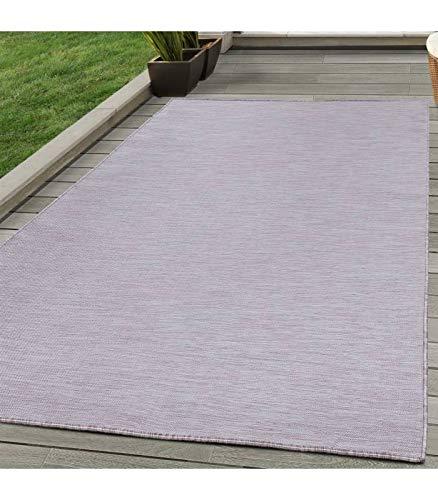 Sisal Teppich Flachgewebe Terrassen Indoor Outdoor Melierung Pink Creme - 80x250 cm -