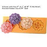 LC Blossom X043, Silikon-Gussform für Zucker, Gießharz, Modelliermasse und Kuchendekoration zum Selbermachen