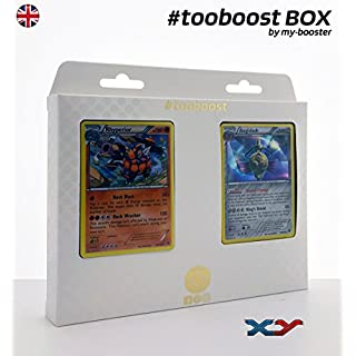 my-booster Box #tooboost RHYPERIOR (Rihornior) und AEGISLASH (Durengard) - XY Double Crisis - 10 English Karten Pokemon