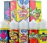 Candy King E liquide 0mg Tpd conformes à la norme 100ml (Fraise Pastèque Bubbgum, 100ml)