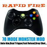 Xbox 360 wireless Controller schwarz 78 Mode Rapid Fire, Auto Aim, Drop Shot, Quick Scope, Fast Reload...