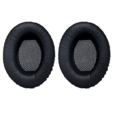 Mudder Earpad Cushions Foam Ear Pad Headphone Ear Cups Cover Replacement for Bose Quietcomfort 2/ 15/ 25, Ae2, Ae2i, Black