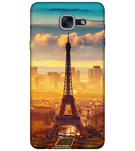 "Humor Gang Eiffel Tower - Paris Vintage Printed Designer Mobile Back Cover For ""Samsung Galaxy J7 Max"" (3D, Matte Finish, Premium Quality, Protective Snap On Slim Hard Phone Case, Multi Color)"