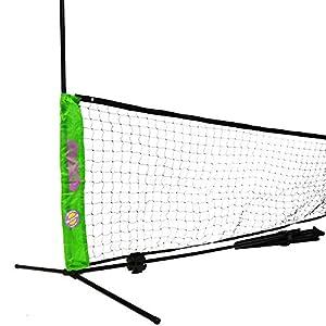 Topspin Multifunktions Netz 2in1-3m Höhenverstellbar inkl. Tasche – Tennisnetz – Badmintonnetz – Volleyballnetz – Beachvolleyballnetz – Fußballnetz – Kindernetz