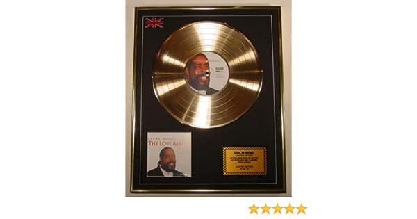 Barry White EDITION LIMITEE//CADRE DISQUE DOR CD ET VINYLE The Love Album