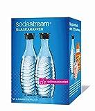 SodaStream DuoPack Glaskaraffe, Ersatzflaschen geeignet für die SodaStream Wassersprudler Crystal und Penguin, 2x 0.615 L